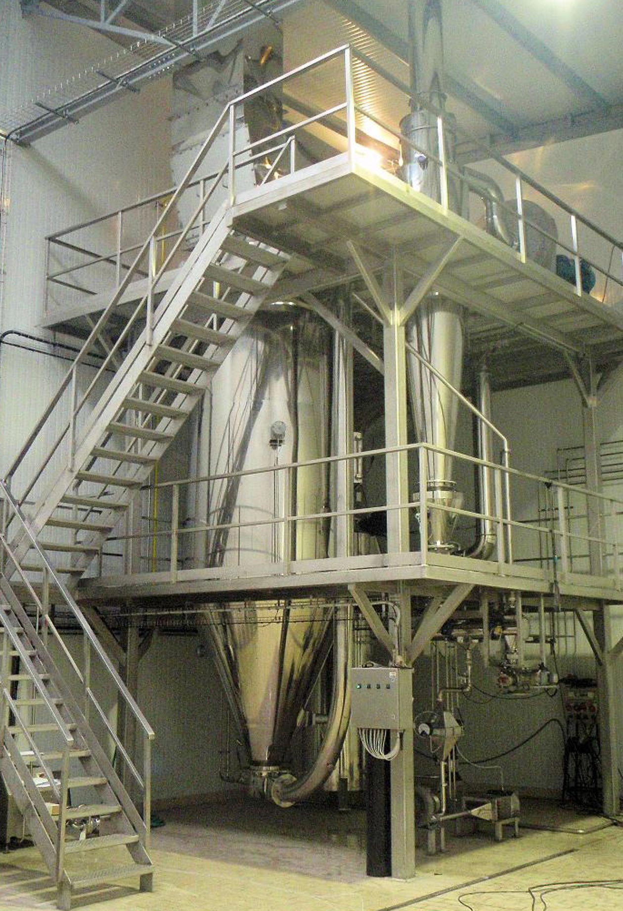 Production-scale spray dryers